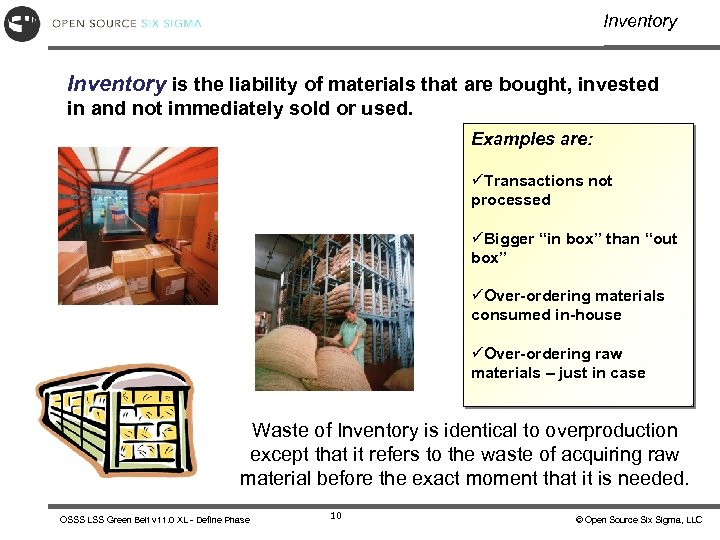 Inventory is the liability of materials that are bought, invested in and not immediately