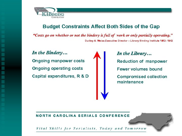 "Budget Constraints Affect Both Sides of the Gap ""Costs go on whether or not"