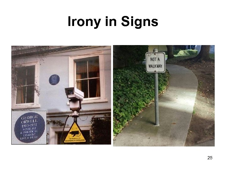 Irony in Signs 25