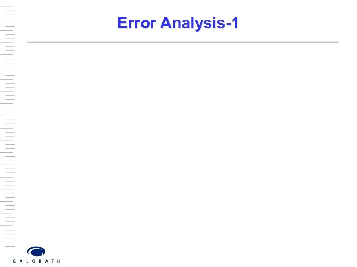 Error Analysis-1