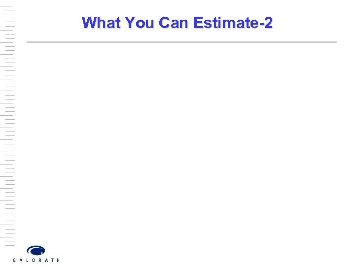 What You Can Estimate-2