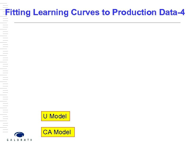 Fitting Learning Curves to Production Data-4 U Model CA Model