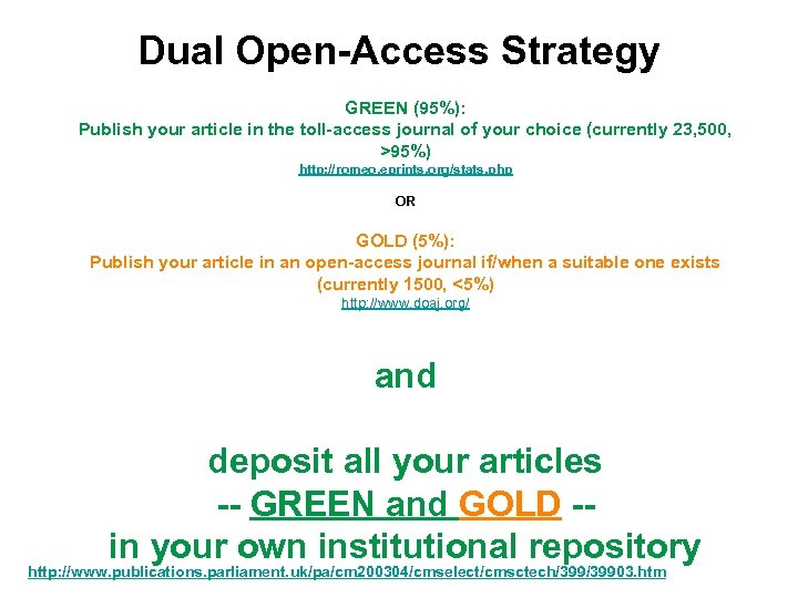 Dual Open-Access Strategy GREEN (95%): Publish your article in the toll-access journal of your