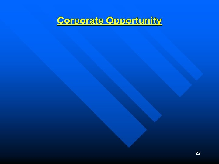 Corporate Opportunity 22