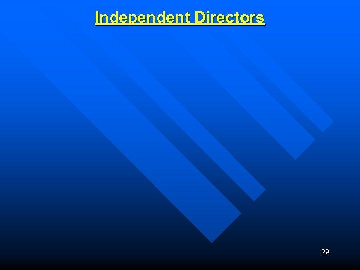 Independent Directors 29