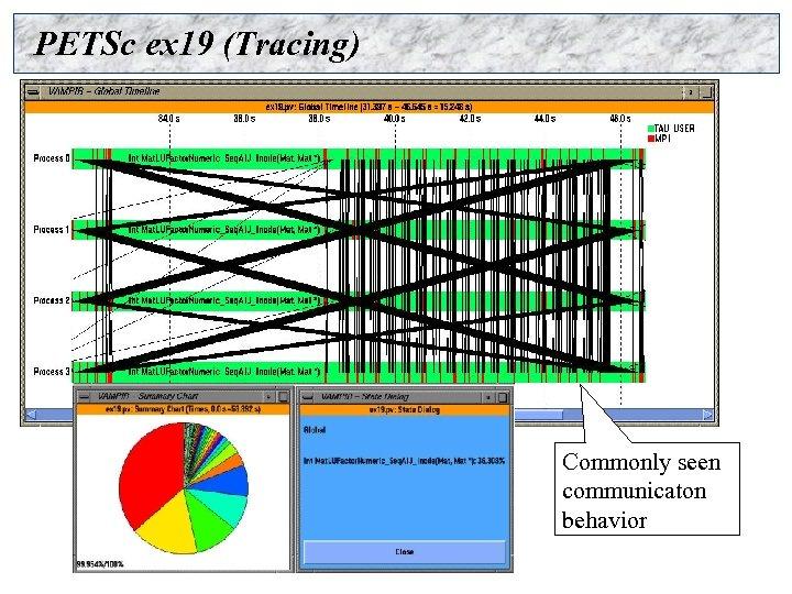 PETSc ex 19 (Tracing) Commonly seen communicaton behavior