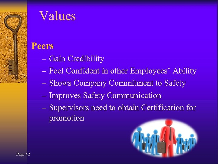 Values Peers – Gain Credibility – Feel Confident in other Employees' Ability – Shows