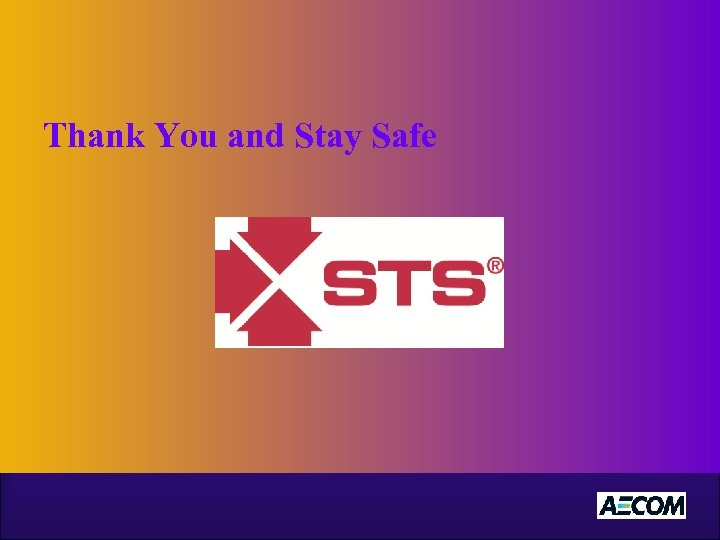 Thank You and Stay Safe