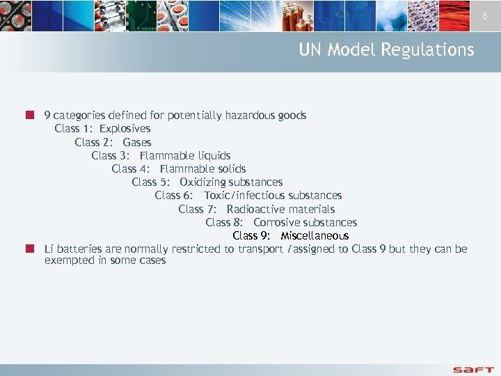 Lithium Batteries United Nations Transportation Regulations
