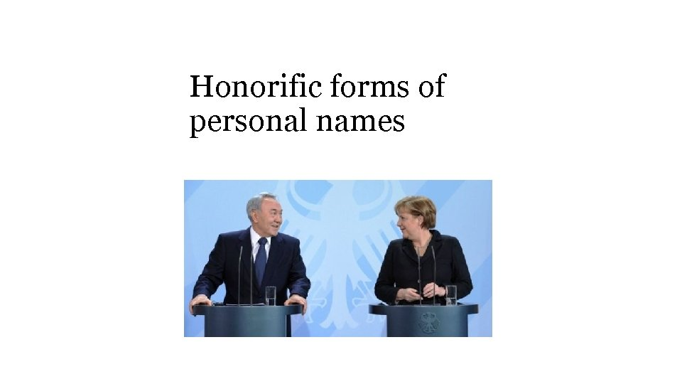 Honorific forms of personal names