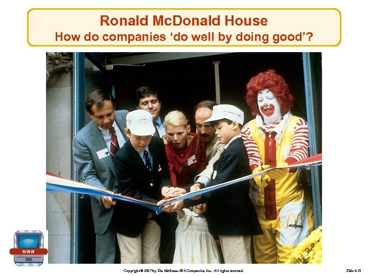 Ronald Mc. Donald House How do companies 'do well by doing good'? Copyright ©
