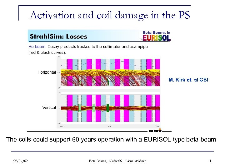 Activation and coil damage in the PS M. Kirk et. al GSI The coils