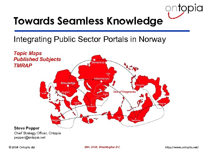 Towards Seamless Knowledge Integrating Public Sector Portals in Norway Topic Maps Published Subjects TMRAP