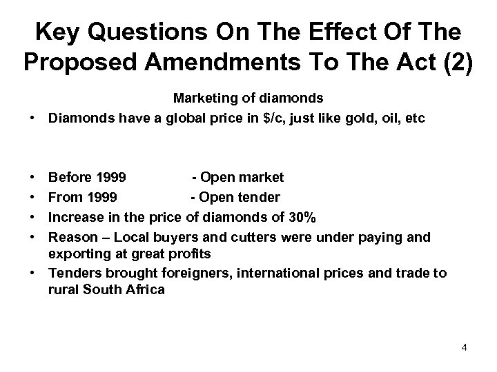 Key Questions On The Effect Of The Proposed Amendments To The Act (2) Marketing
