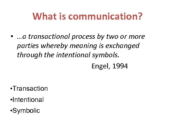 Communications theory and Buyer Behaviour Session 2
