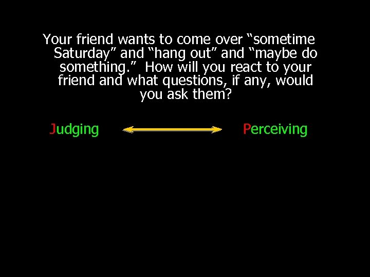 "Your friend wants to come over ""sometime Saturday"" and ""hang out"" and ""maybe do"