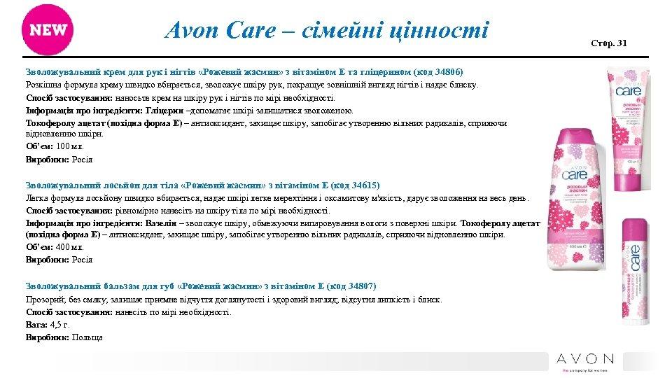 Avon Care – сімейні цінності Зволожувальний крем для рук і нігтів «Рожевий жасмин» з