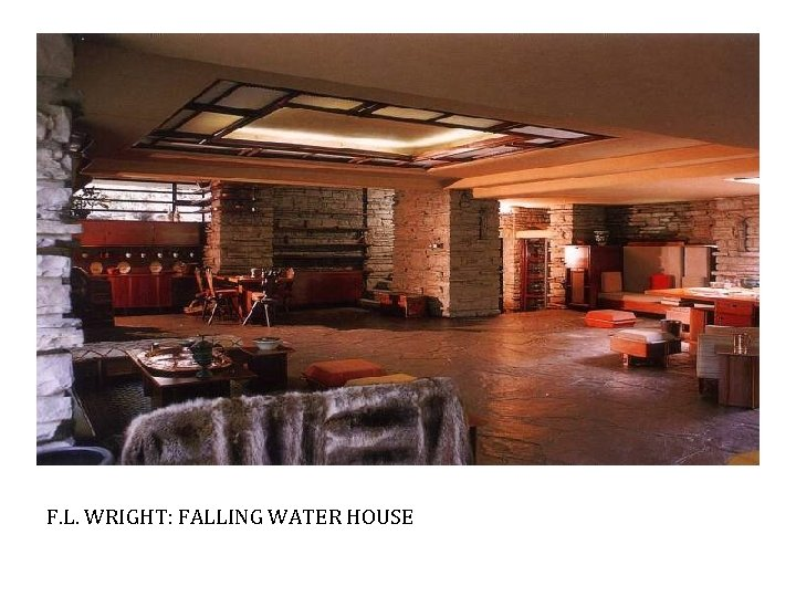 F. L. WRIGHT: FALLING WATER HOUSE