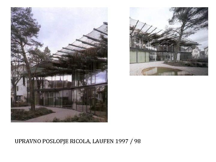 UPRAVNO POSLOPJE RICOLA, LAUFEN 1997 / 98