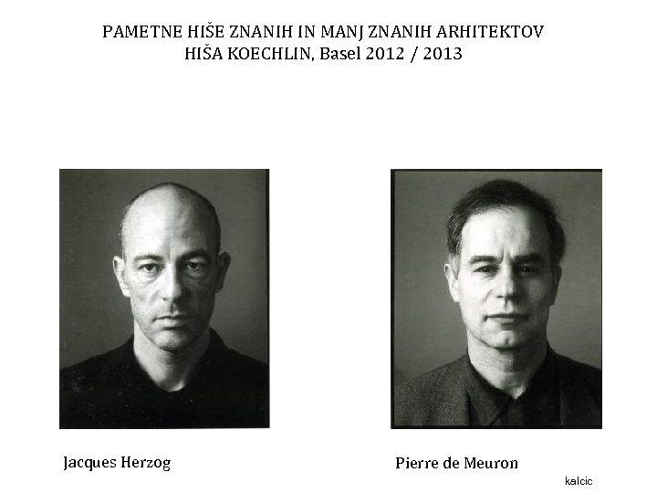 PAMETNE HIŠE ZNANIH IN MANJ ZNANIH ARHITEKTOV HIŠA KOECHLIN, Basel 2012 / 2013 Jacques