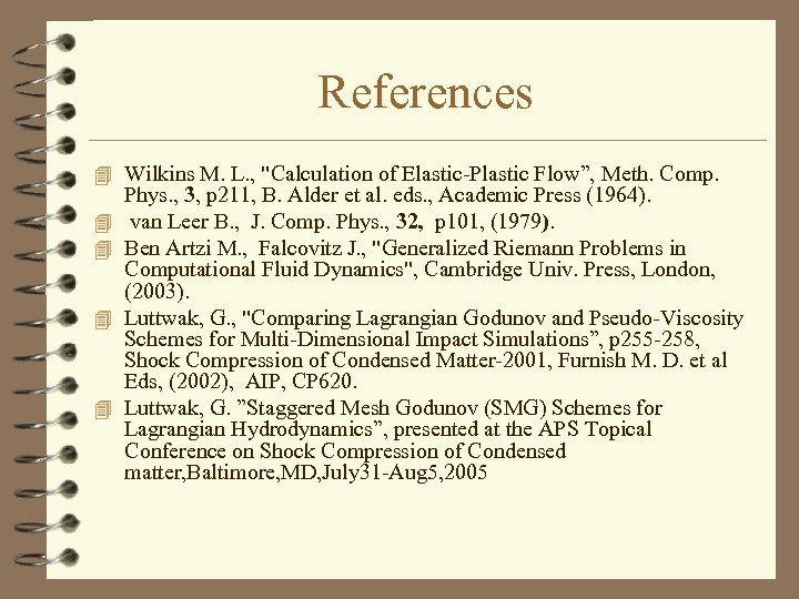 References 4 Wilkins M. L. ,
