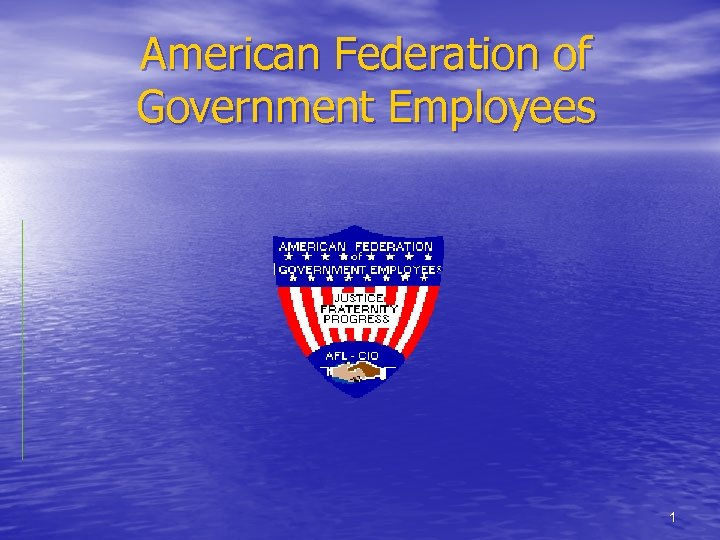 American Federation of Government Employees 1