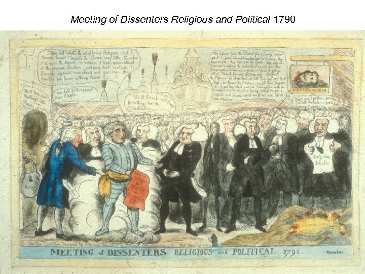 Meeting of Dissenters Religious and Political 1790
