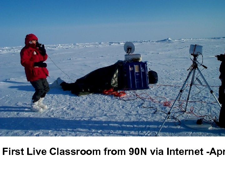 First Live Classroom from 90 N via Internet -Apr