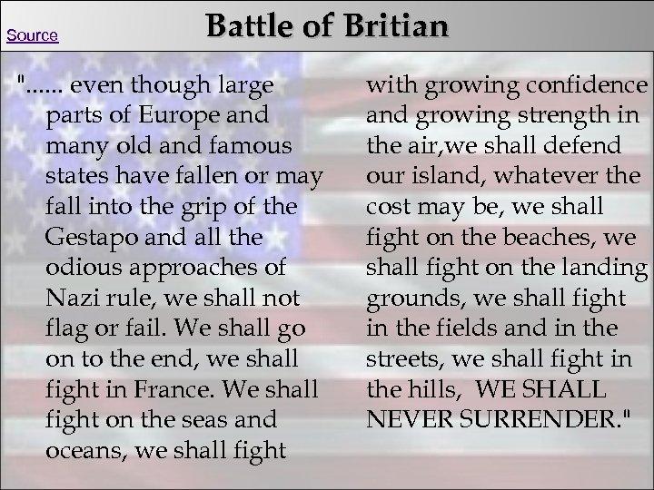 Source Battle of Britian
