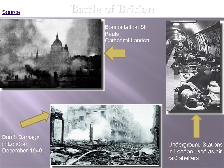 Source Battle of Britian Bombs fall on St Pauls Cathedral. London Bomb Damage in