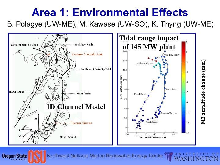 Area 1: Environmental Effects B. Polagye (UW-ME), M. Kawase (UW-SO), K. Thyng (UW-ME) 1