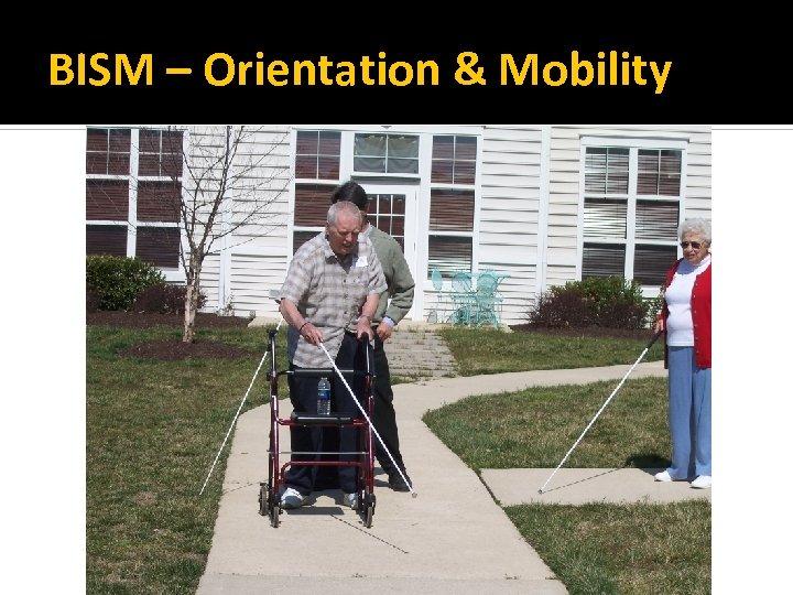 BISM – Orientation & Mobility