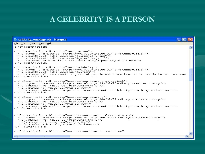 A CELEBRITY IS A PERSON