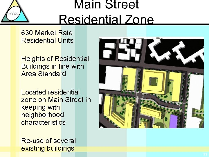 Main Street Residential Zone 630 Market Rate Residential Units Heights of Residential Buildings in