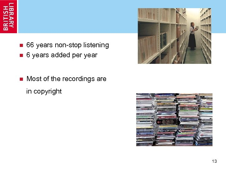 66 years non-stop listening n 6 years added per year n n Most of