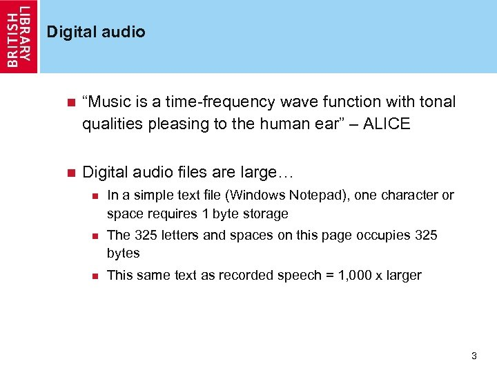 """Digital audio n """"Music is a time-frequency wave function with tonal qualities pleasing to"""