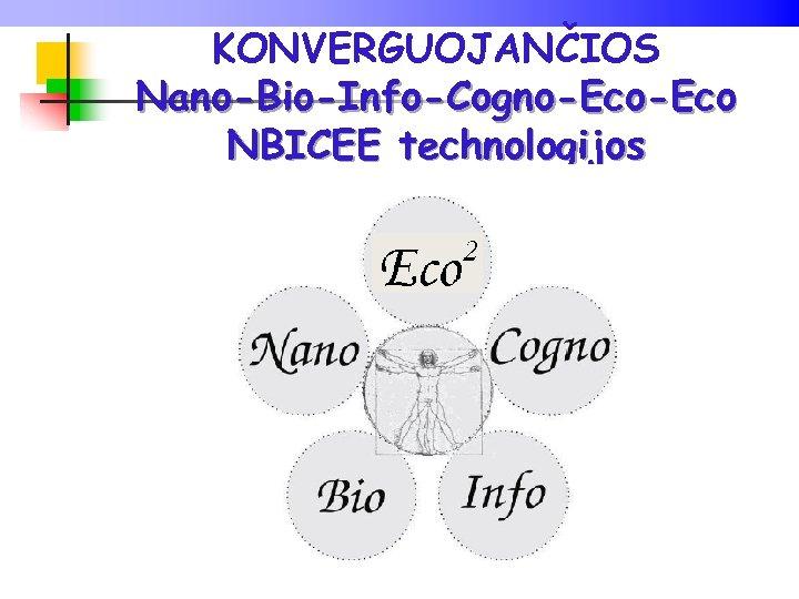 KONVERGUOJANČIOS Nano-Bio-Info-Cogno-Eco NBICEE technologijos