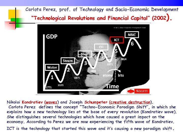 "Carlota Perez, prof. of Technology and Socio-Economic Development ""Technological Revolutions and Financial Capital"" (2002"