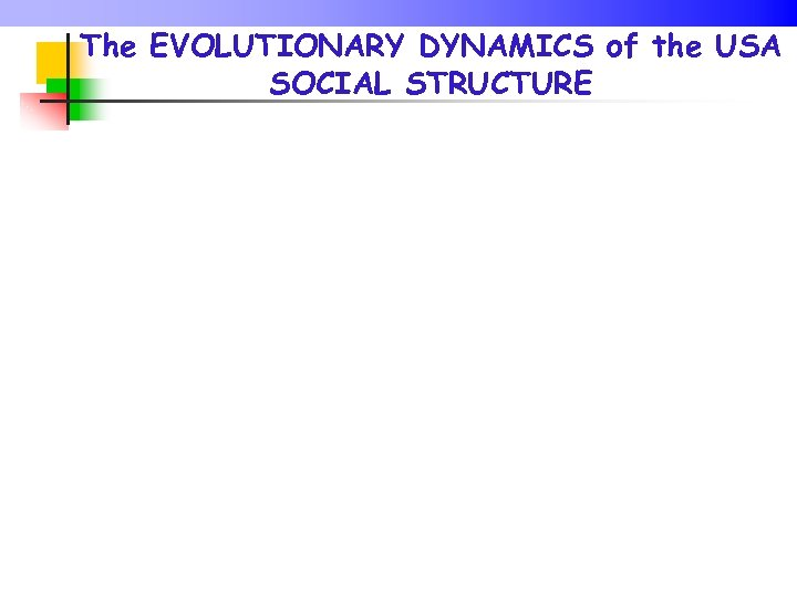 The EVOLUTIONARY DYNAMICS of the USA SOCIAL STRUCTURE