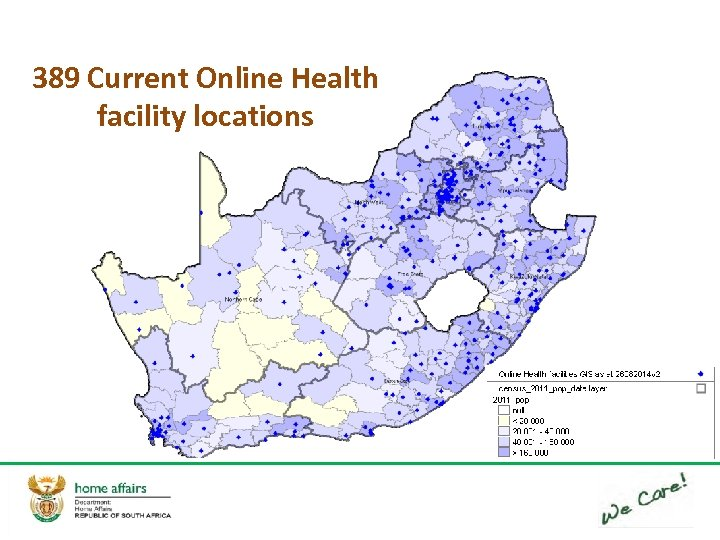 389 Current Online Health facility locations