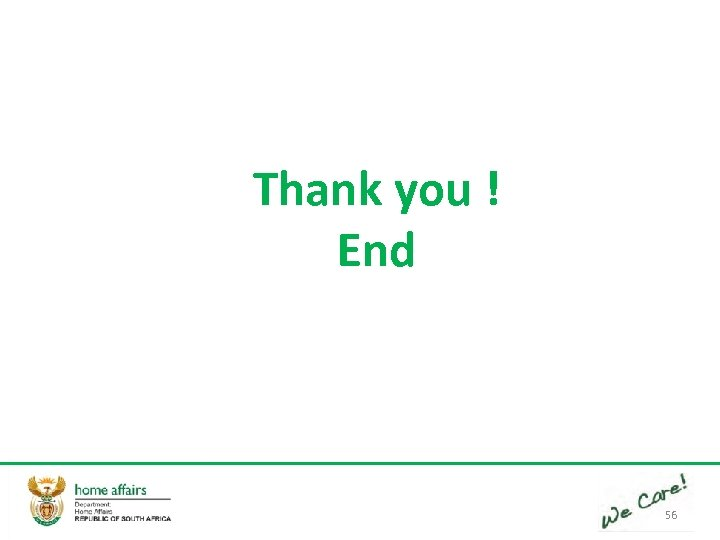 Thank you ! End 56