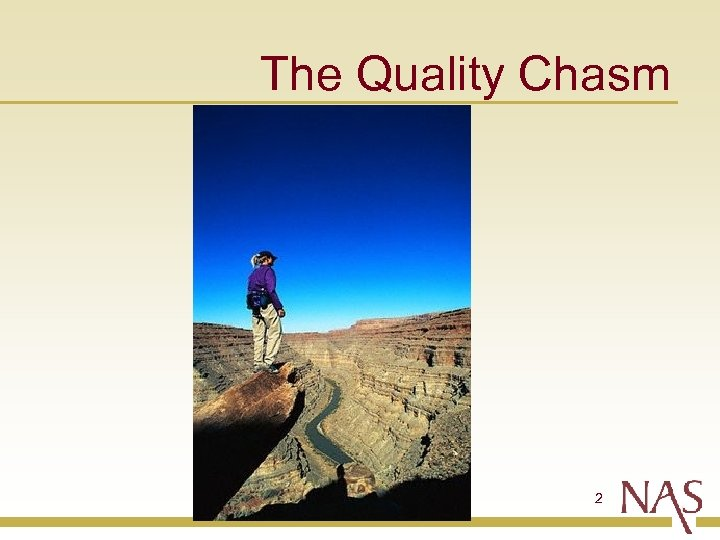 The Quality Chasm 2