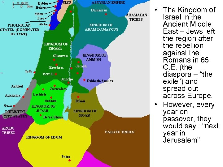 • The Kingdom of Israel in the Ancient Middle East – Jews left