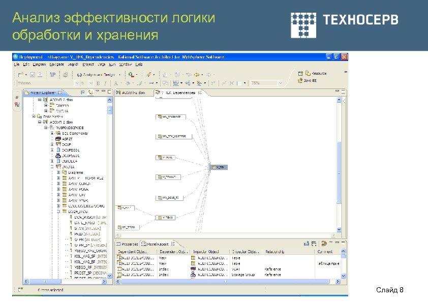 Анализ эффективности логики обработки и хранения Слайд 8