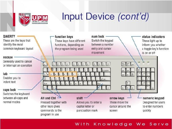 Input Device (cont'd)