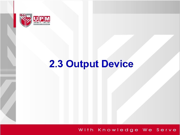 2. 3 Output Device