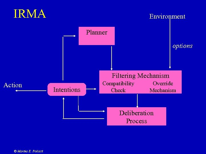 IRMA Environment Planner options Filtering Mechanism Action Intentions Compatibility Check Override Mechanism Deliberation Process