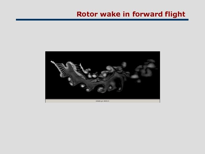 Rotor wake in forward flight