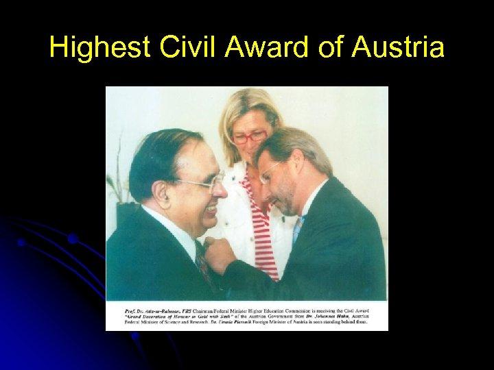 Highest Civil Award of Austria