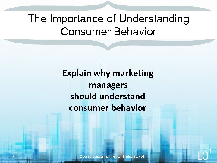 The Importance of Understanding Consumer Behavior Explain why marketing managers should understand consumer behavior